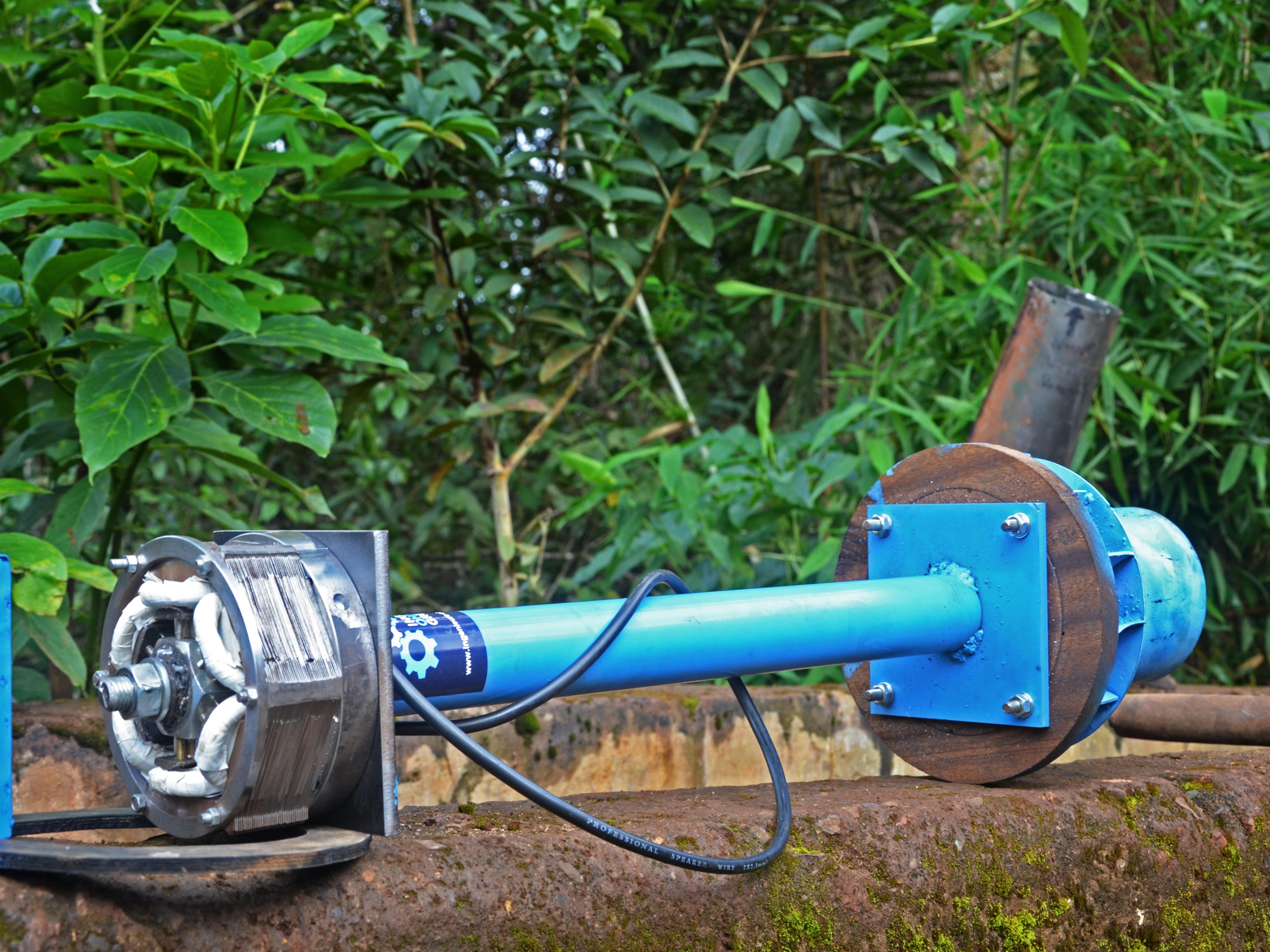WIL – Water ist Light – Eine Wasserturbine zur Stromerzeugung
